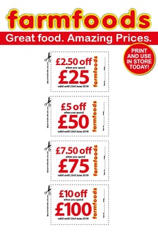 Farmfoods june 2018 offers